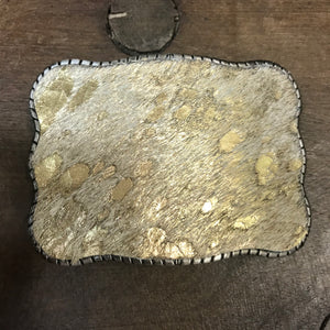 Wallet Buckle Metallic Cowhide