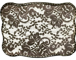 Wallet Buckle Black n white lace