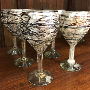 Mexican Goblet glassware - Black webbed