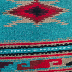 A taste of the Southwest to enhance your home *** Authentic Hacienda accent tapestry rugs are not only beautiful but extremely durable.  They can be used many ways in your home, beautiful as table setting, throw over your furniture to protect it, under that lamp or vase and stunning on the bathroom floor. Woven/tassel corners.