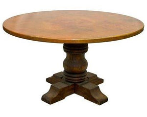 Round Copper dining table - Natural