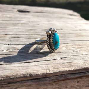 Blue Lake Kingman ring - size 7 / N - custom made in 🇦🇺