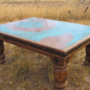 Brazos copper coffee table