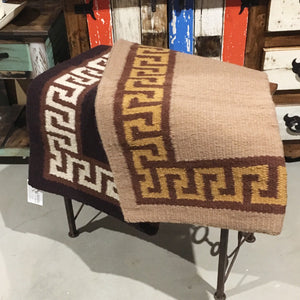 "Wool saddle rugs - Aztec  38""x 34"" - sale"