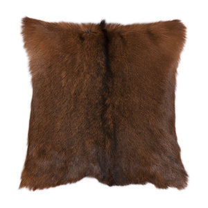 Genuine Goat Hide Cushion with waterfowl feathers