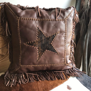 Lexington leather Cushion with star motif