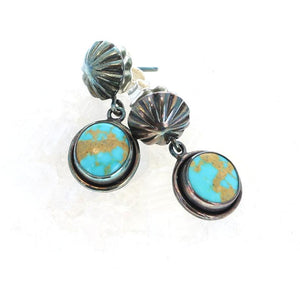 Golden Kingman Turquoise earrings