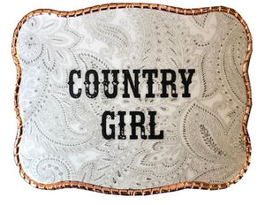 Wallet Buckle Country Girl paisley