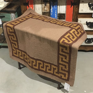 "Wool saddle rug - Aztec  38""x 34"""
