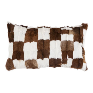 Goat Hide Cushion with waterfowl feathers