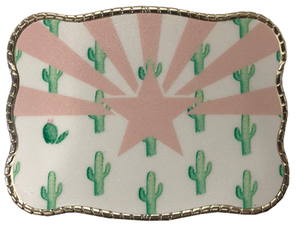 Wallet Buckle Arizona Cactus