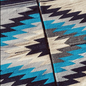 New West Diamond Blanket - 100% Wool - Turquoise