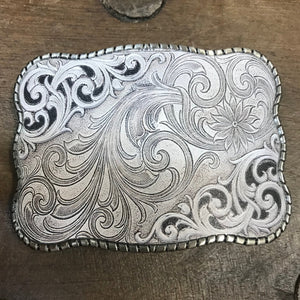 Wallet Buckle Silver scroll
