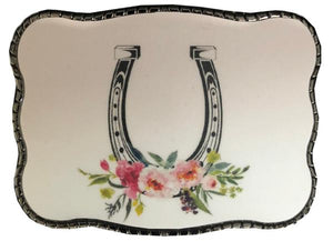 Wallet Buckle Floral Horseshoe