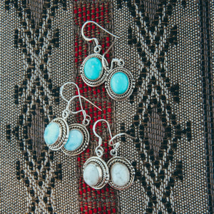 Pebble Drops earrings - Blue Larimar