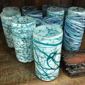 Mexican glassware - Blue Webbed