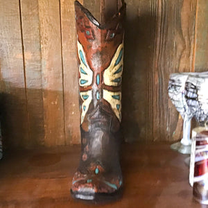 "Boot Vase 14"" - Butterfly Effect"