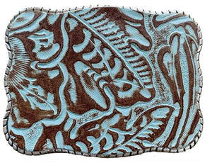 Wallet Buckle Dakota blue leather
