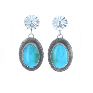 Birds Eye Turquoise earrings