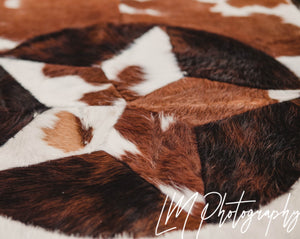 Texas Star genuine Longhorn rug 58x35""