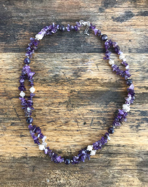 Catalina Twin Mexican Amethyst Necklace