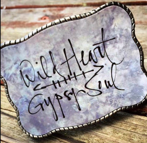 Wallet Buckle Wild Heart Gypsy Soul