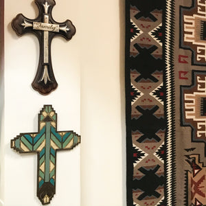 Deco Wall cross 19""