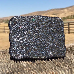 Wallet Buckle Graphite Crystal