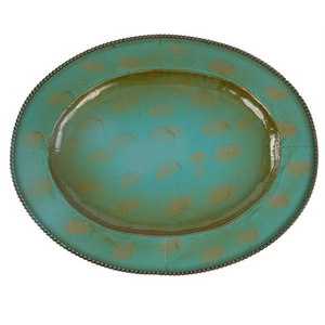 Iron Charger - Antiqued Turquoise
