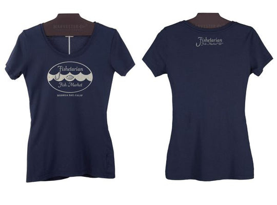 Eco-Conscious Fishetarian Womens scoop neck T-shirt