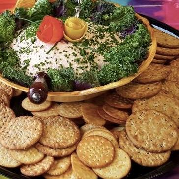 Salmon Spread with Crackers