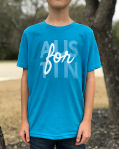 Turquoise Youth For Austin Tee