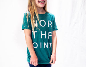 Teal Northpoint Kids Tee