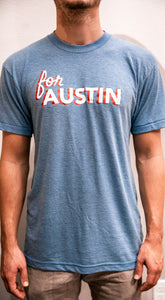 Light Blue For Austin Tee