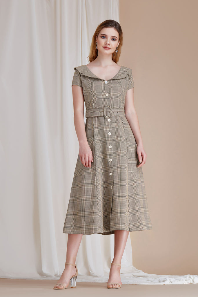 Maggie Belted Midi Dress