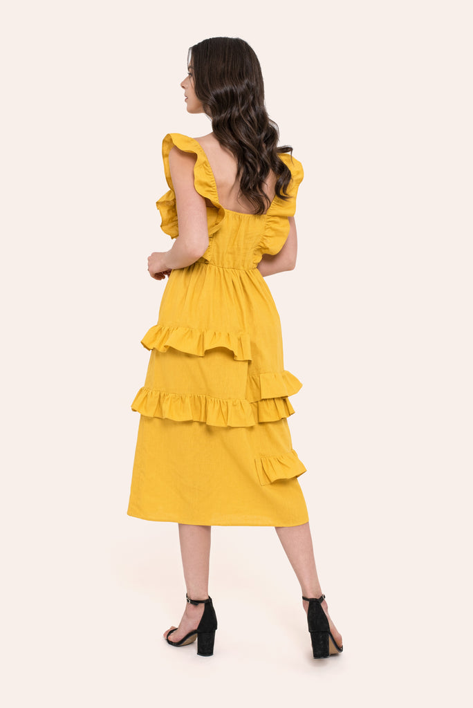 Abby Yellow Dress