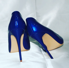 Ruby Blue Patent Leather