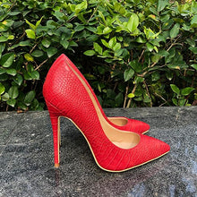 Red Italian Style Pumps Shoes