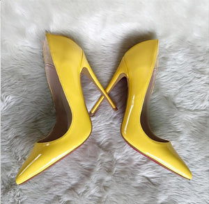 Yellow High heels Pumps Shoes