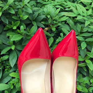 Red Patent Leather High Heels