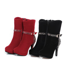 Party Calf Boots with Crystal