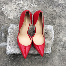 Red glossy High Heel Pumps Shoes