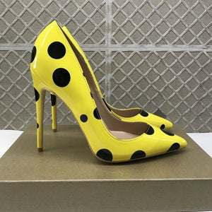 Yellow Polka Dots Stilettos