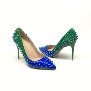 Green and Blue Pumps Shoes