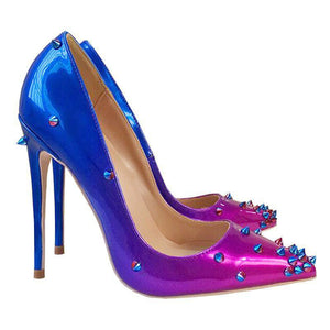 Blue Purple gradient High heel Pumps