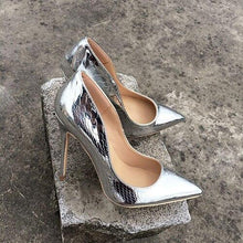 Gold and Silver High Heels