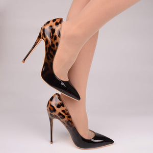 Leopard Patent Leather Pumps - Sherilyn Shop