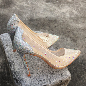 See-through Pumps Silver - Sherilyn Shop
