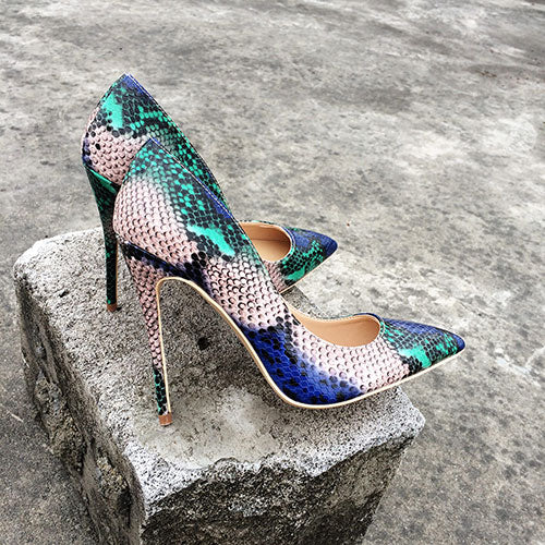 Snake Print Blue Green - Sherilyn Shop