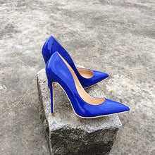 Royal Blue Patent Leather Classic Italian Style Pumps